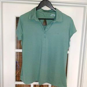 Women's Columbia golf polo sage green size XL